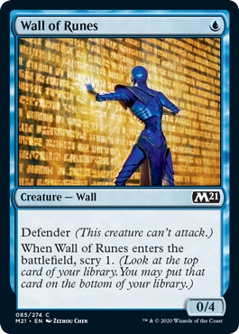 MTG card Wall of Runes. Image: Wizards of the Coast