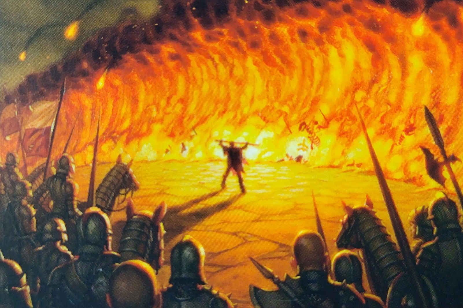 MTG Wall of Fire card Image: Wizards of the Coast. Artist: Dan Dos Santos
