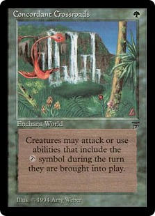 MtG card Concordant Crossroads. Image: Wizards of the Coast.