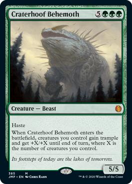 MtG card Craterhoof Behemoth. Image: Wizards of the Coast.