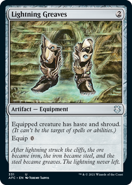 MtG card Lightning Greaves. Image: Wizards of the Coast.