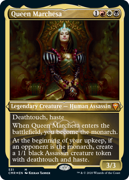MtG card Queen Marchesa. Image: Wizards of the Coast.