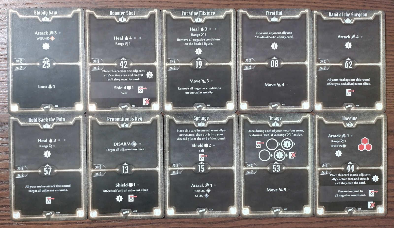 Gloomhaven Sawbones Level 1 build cards
