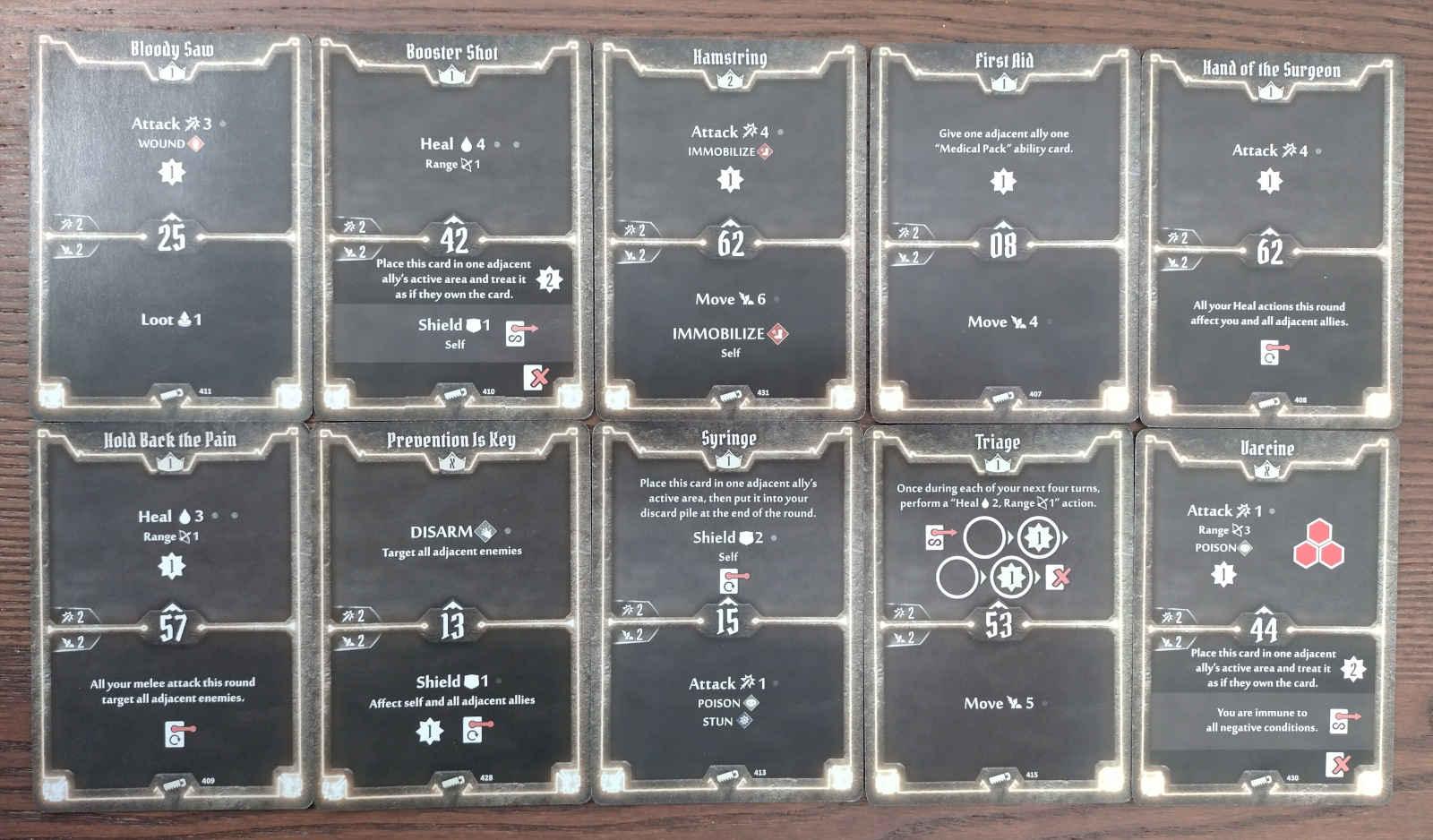 Sawbones level 2 build cards