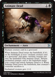 MTG card Animate Dead. Image: Wizards of the Coast.