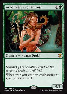MTG card Argothian Enchantress. Image: Wizards of the Coast.