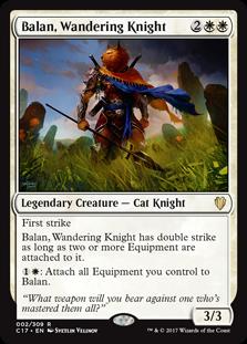 MTG card Balan, Wadering Knight. Image: Wizards of the Coast.
