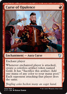 MTG card Curse of Opulence. Image: Wizards of the Coast.
