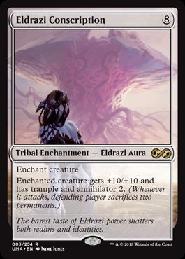 MTG card Eldrazi Conscription. Image: Wizards of the Coast.