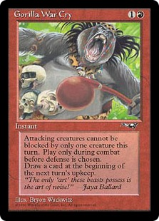 MTG card Gorilla War Cry. Image: Wizards of the Coast.