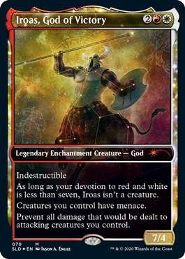 MTG card Iroas, God of Victory. Image: Wizards of the Coast.