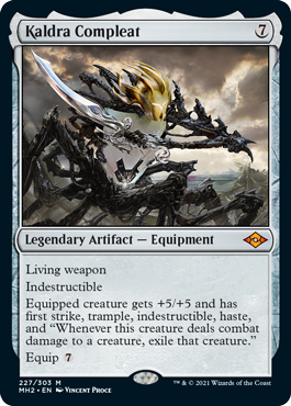 MTG card Kaldra Compleat. Image: Wizards of the Coast.