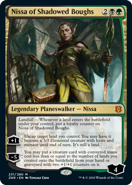 MTG card Nissa of Shadowed Boughs. Image: Wizards of the Coast.