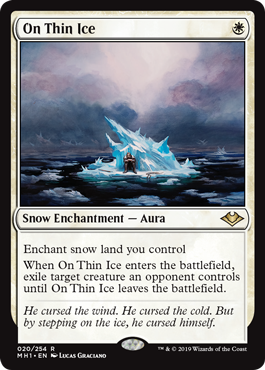 MTG card On Thin Ice. Image: Wizards of the Coast.