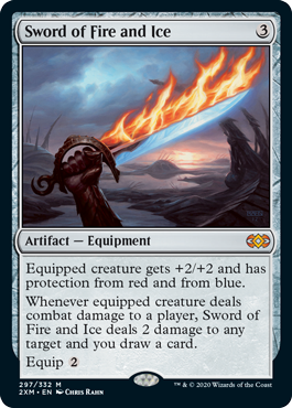 MTG card Sword of Fire and Ice. Image: Wizards of the Coast.