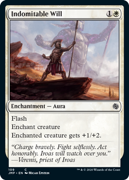 MTG card Indomitable Will. Image: Wizards of the Coast.