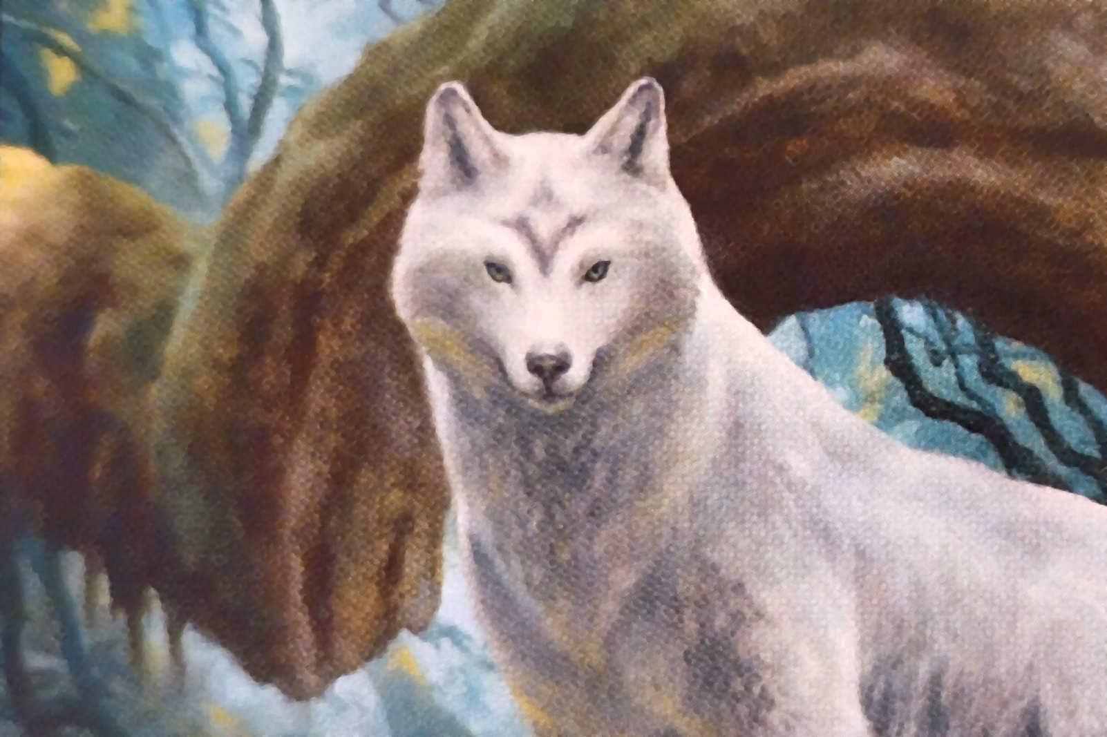 MTG sacred Wolf illustraion Image wizards of the coast, illustration by matt stewart
