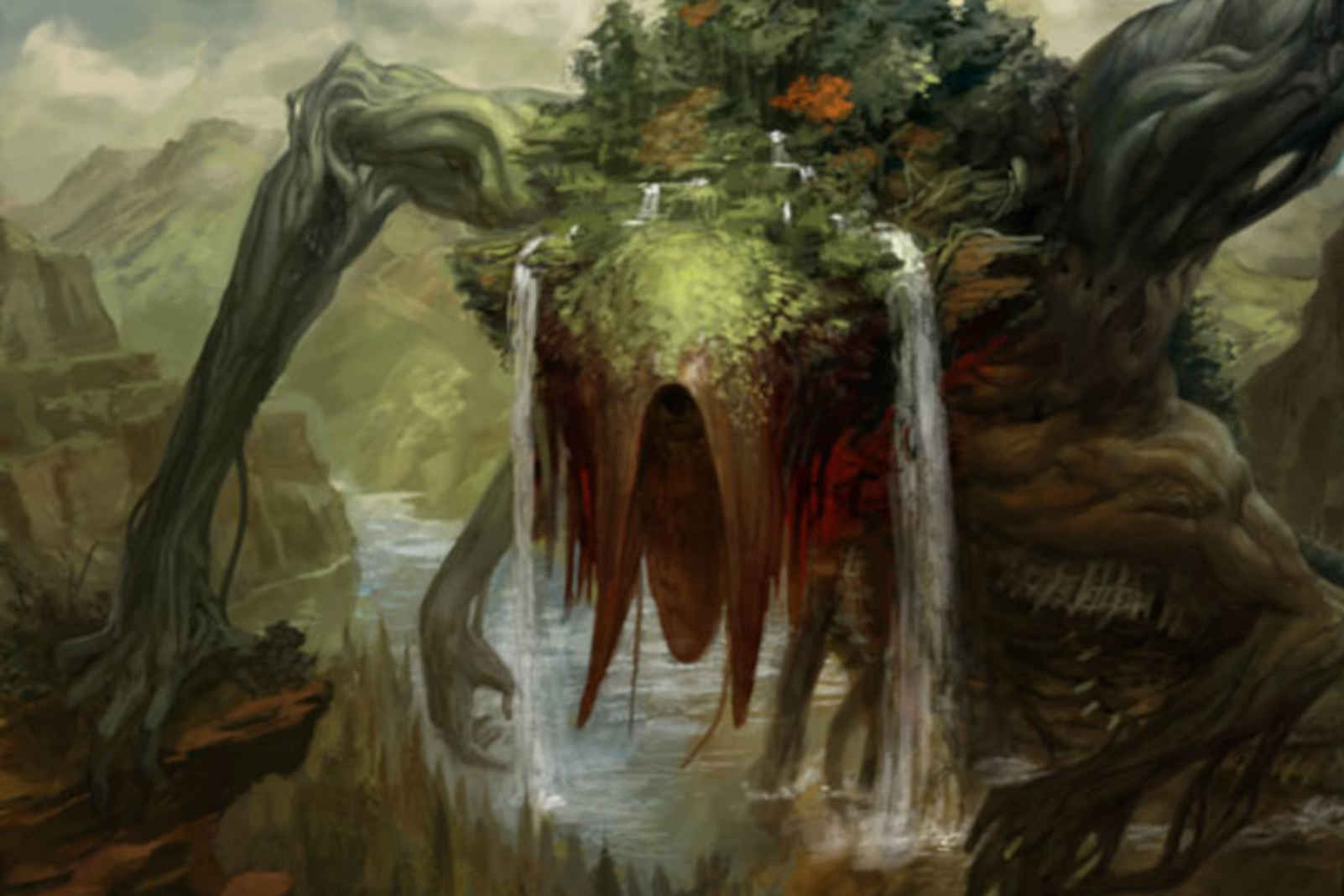 Animar, Soul of Elements MTG protection card illustration. Image: Wizards of the Coast. Artist: Peter Mohrbacher.