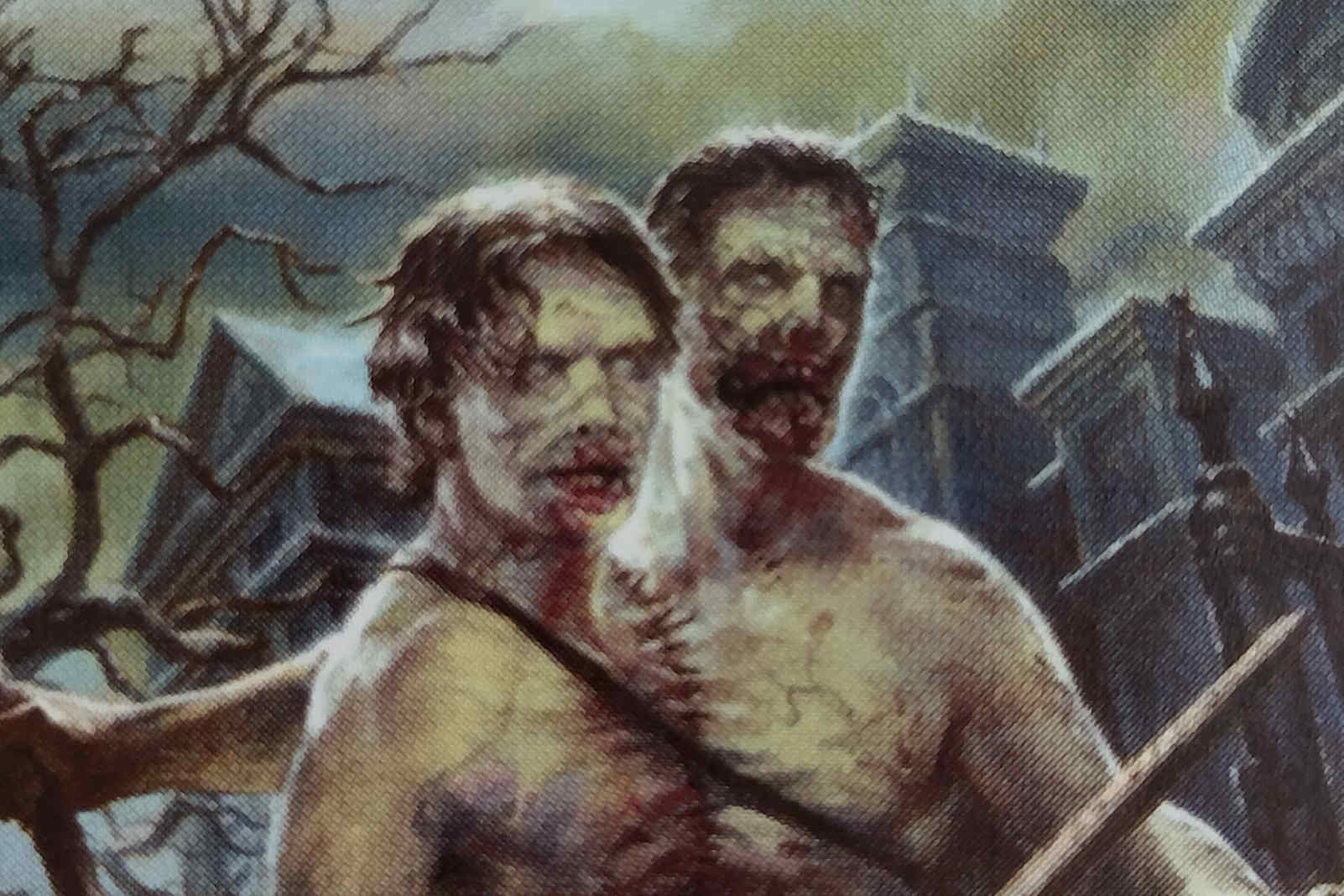 two headed zombie mtg card with menace