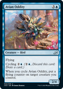 MTG card Avian Oddity. Image: Wizards of the Coast.