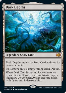 MTG card Dark Depths. Image: Wizards of the Coast.