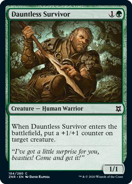 MTG card Dauntless Survivor. Image: Wizards of the Coast.