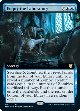 MTG card Empty the Laboratory. Image: Wizards of the Coast.