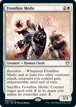 MTG card Frontline Medic. Image: Wizards of the Coast.