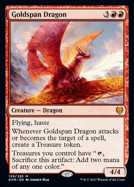 MTG card Goldspan Dragon. Image: Wizards of the Coast.