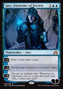 MTG card Jace, Unraveler of Secrets. Image: Wizards of the Coast.