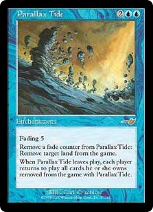 MTG card Parallax Tide. Image: Wizards of the Coast.