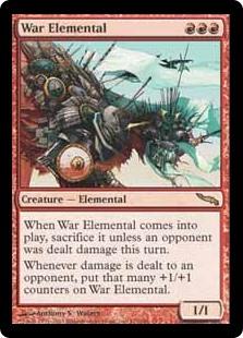 MTG card War Elemental. Image: Wizards of the Coast.