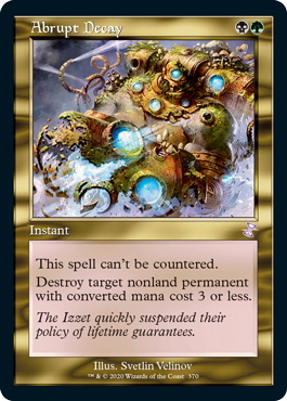 MTG card Abrupt Decay. Image: Wizards of the Coast.