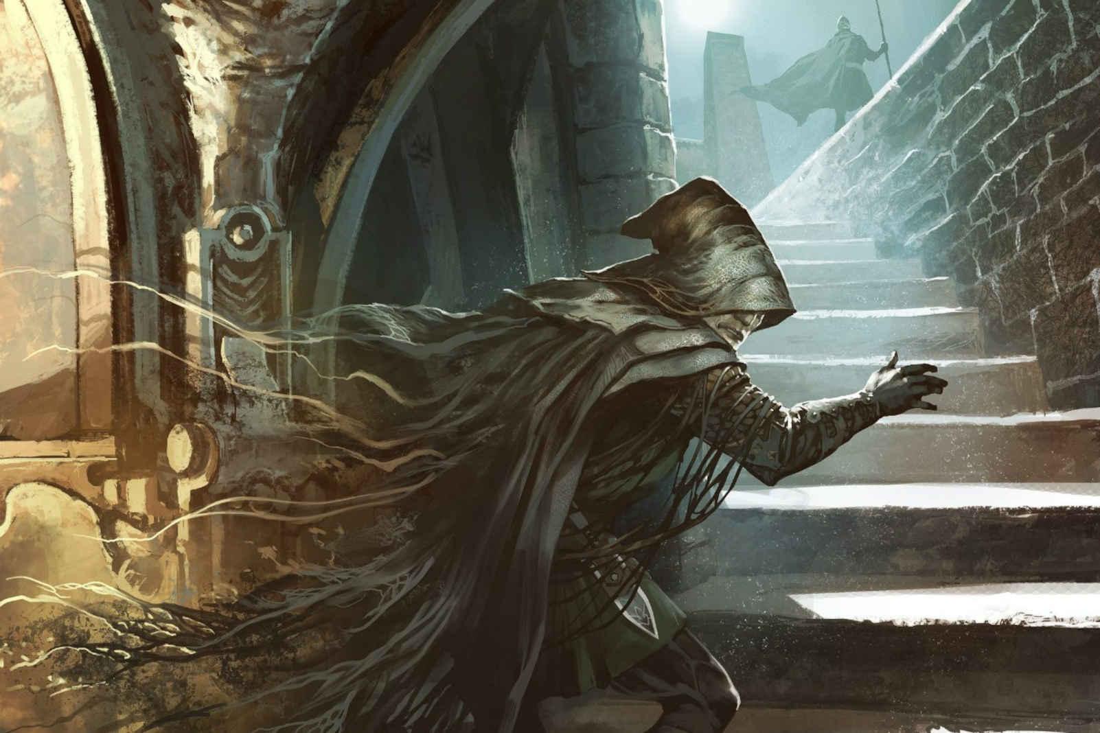 Shadowmage Infiltrator MTG Fear card illustration. Copyright: Wizards of the Coast. Artist: Thomasz Jedruszek.