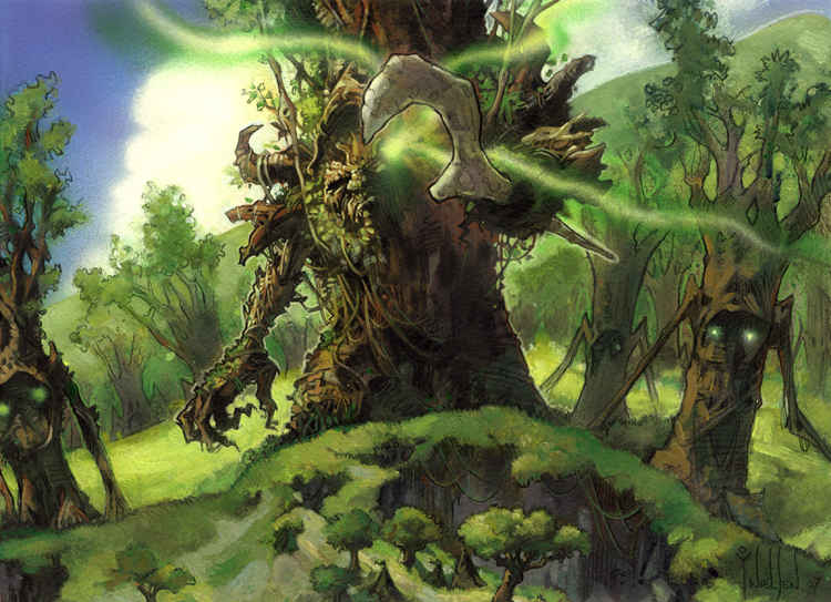Timber Protector MTG card illustration. Image copyright: Wizards of the Coast. Artists: Terese Nielsen & Philip Tan.